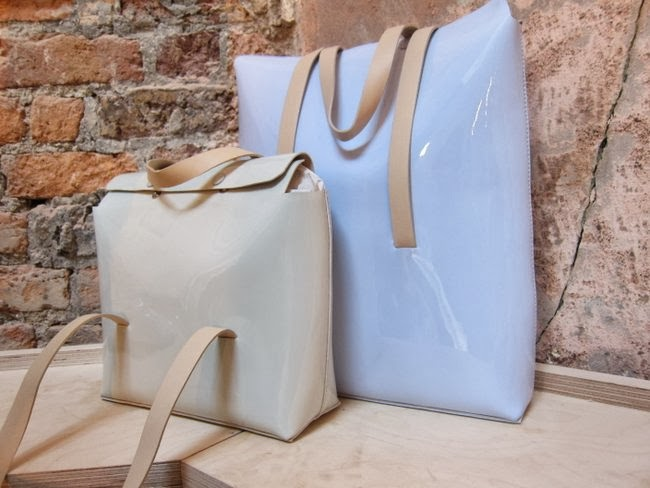 Cos patent and suede handbags SS14