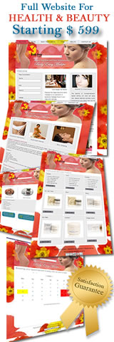 Full Website With SEO Work For Health And Beauty $ 599