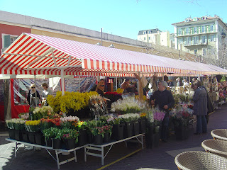 French Shopping Nice flower market