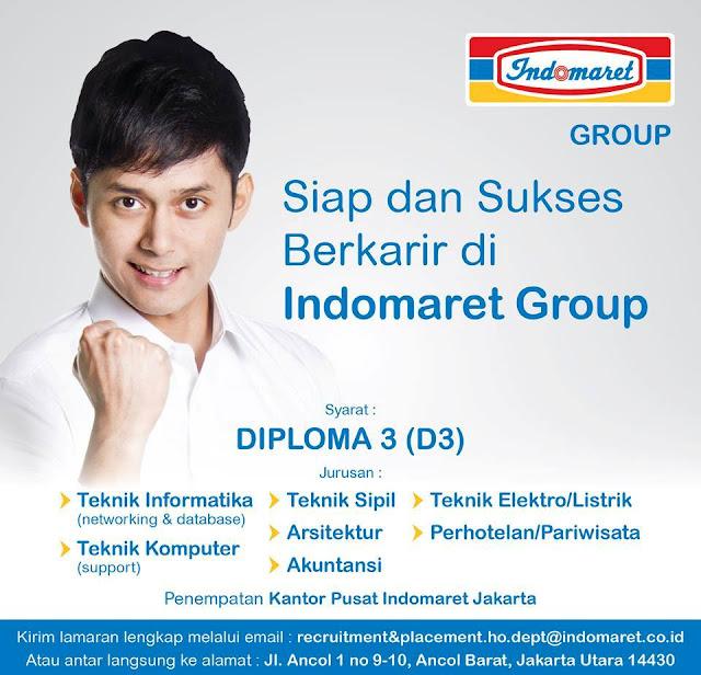 Lowongan Kerja PT. Indomarco Prismatama (Indomaret group) Terbaru