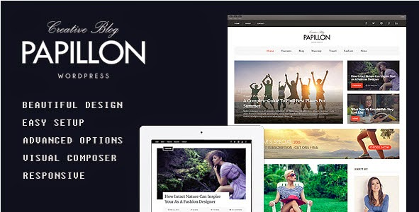 Papillon - Creative WordPress Blog Theme