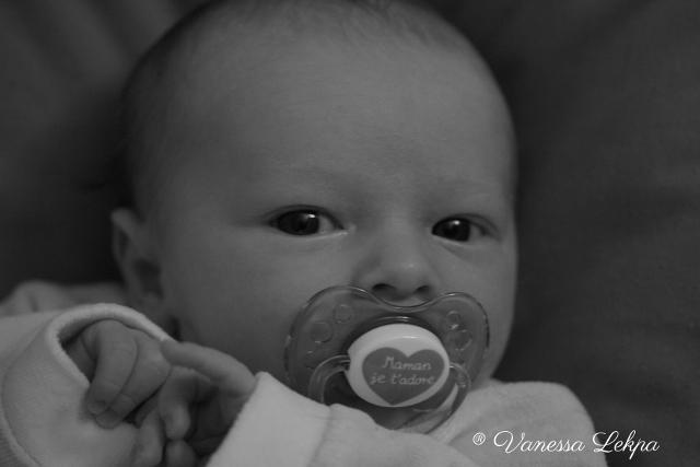 photo bébé noir et blanc vanessa lekpa