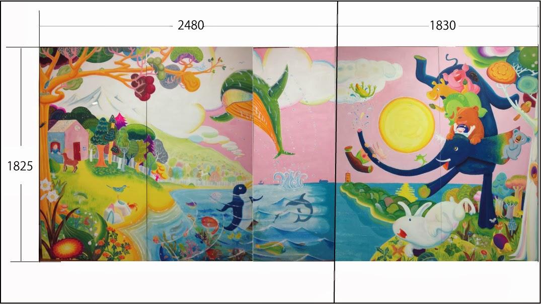 daisaku hamanaka painting ocean 壁画のお仕事