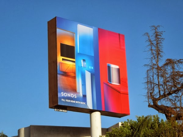 Sonos Fill your home with music billboard