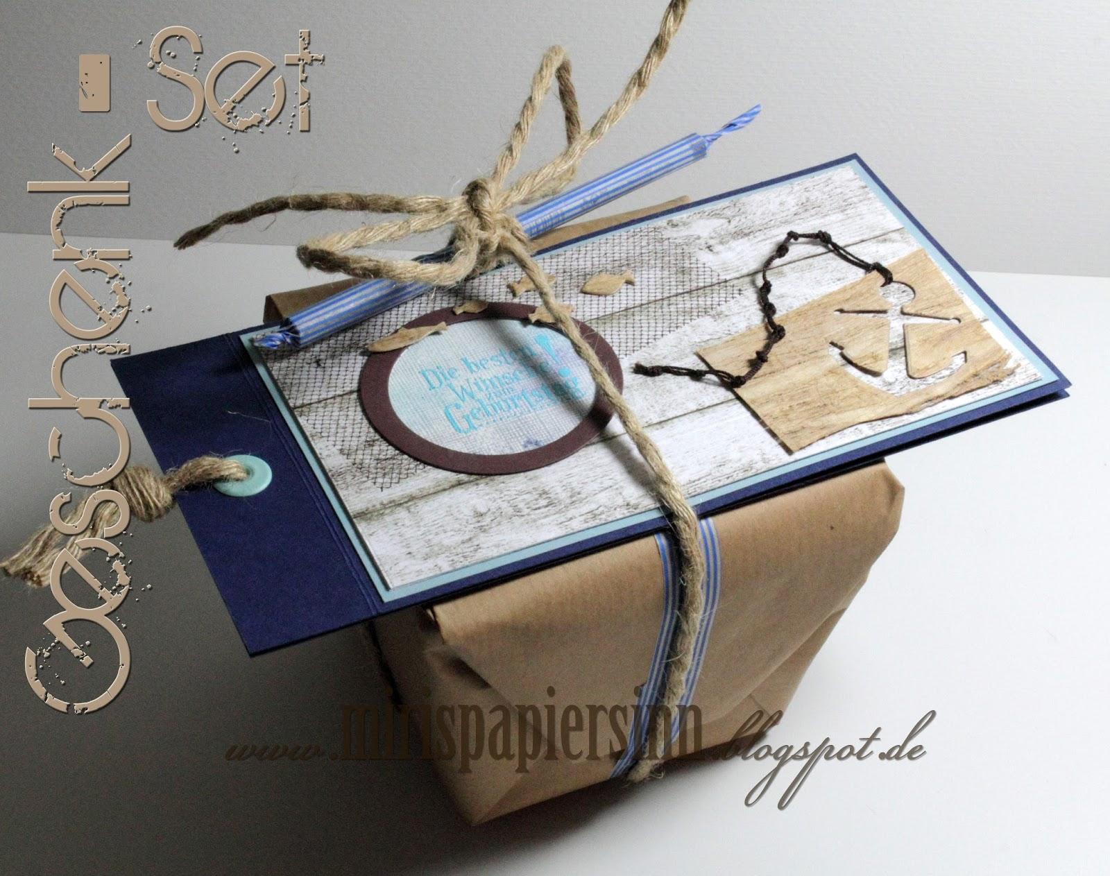 Miris papiersinn maritimes geschenk set for Dekoladen depot