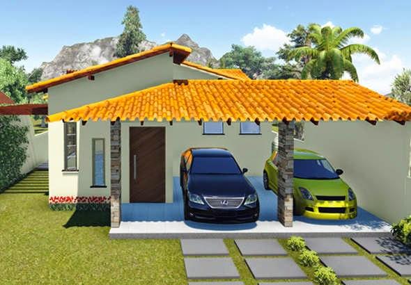 fachada de casa de alvenaria