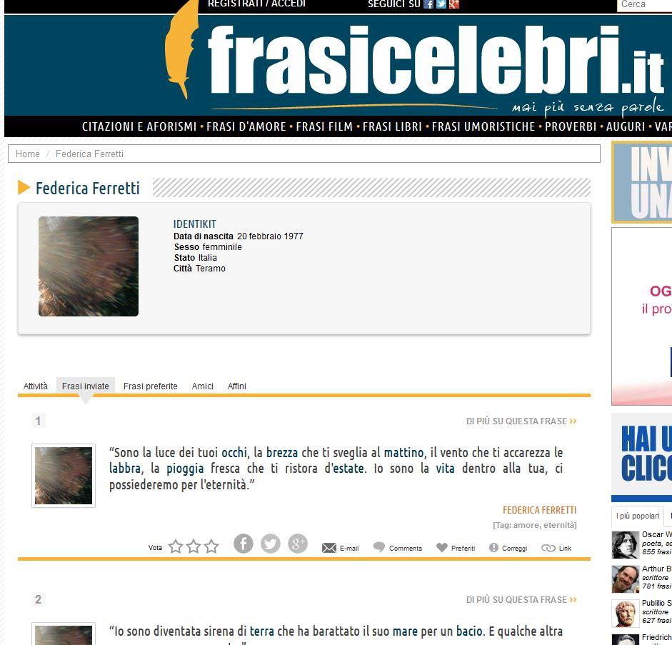 Nuova pagina su Frasicelebri.it