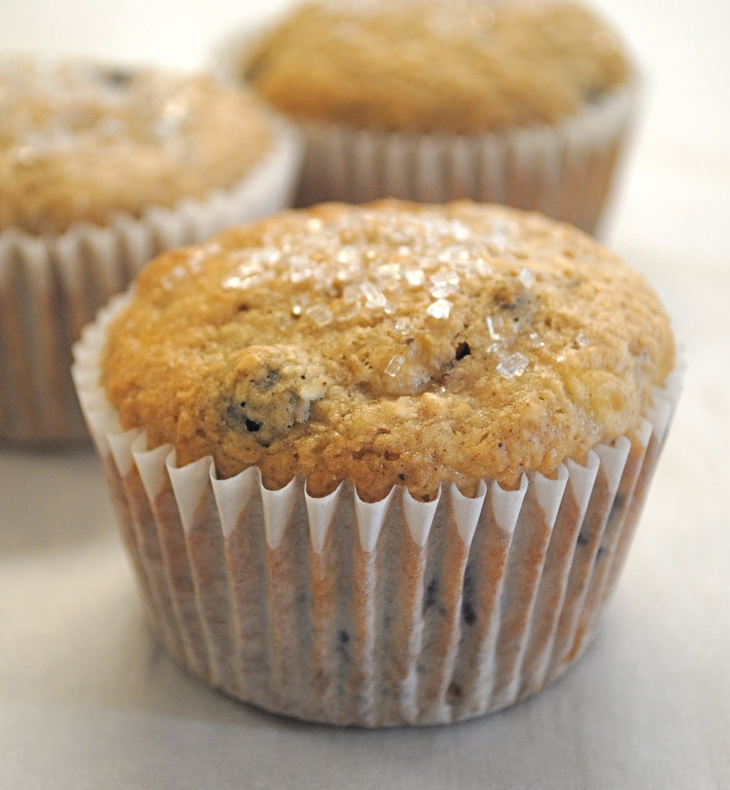 Gourmet Girl: Recipe: Healthy Banana Blueberry Muffins with Oat Bran