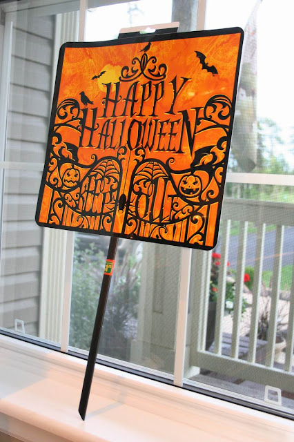 Halloween Sign Post