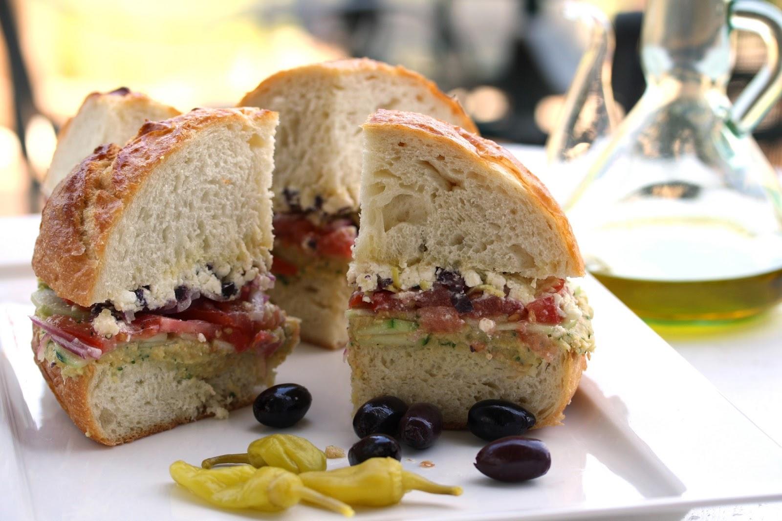 Greek Salad Sandwich - Saving Room for Dessert