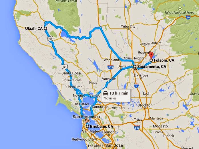 Map showing 2015 Honda Civic EX-L's travels