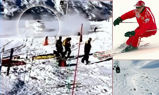 Dramatic Moment Michael Schumacher Was Airlifted To Hospital After Ski Crash As Doctors Reveal F1 Ace Has Improved Slightly Second Operation