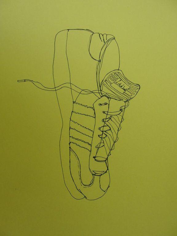 Contour Line Drawing Shoes Lesson Plan : Cari albritton s art contour shoe drawing