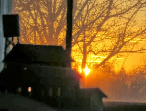 train layout sunset