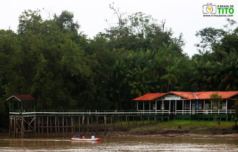 Unidade Pedagógica Jutuba, na ilha de mesmo nome, em Belém - Pará