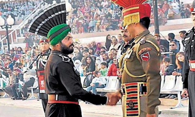 A resident of Nankana Sahib, the birthplace of Guru Nanak, Amarjit Singh, is the first Sikh ever to join the Pakistan army. He joned the Army in 2005 and was recently included in the defence forces on the Wagah border.