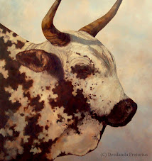 Celebrating Cattle in My Studio  ~  New Large Format Works: