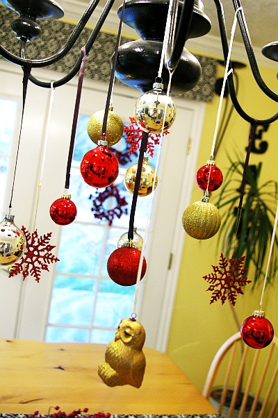 christmas ball ornament chandelier tutorial