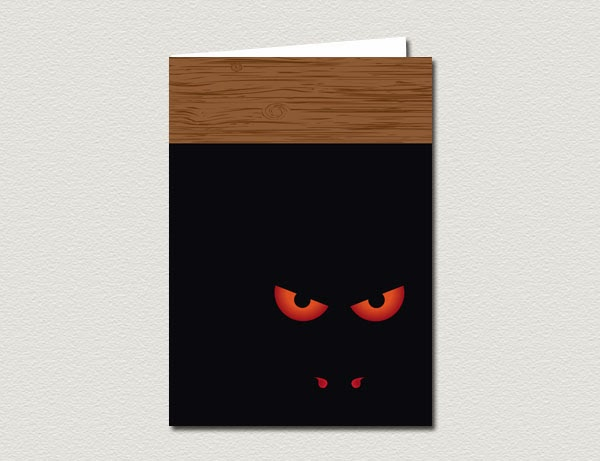 Monster Under The Bed Halloween Greeting Card