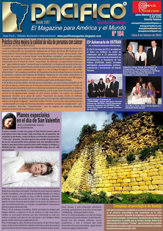 Revista Pacífico Nº 104 Arqueología