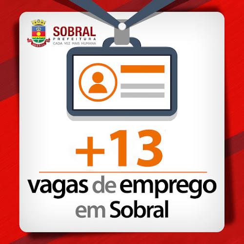 Ofertas: Mais 13 vagas de emprego em Sobral