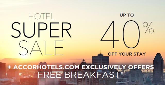 宜必思ibis、Novotel、索菲特Sofitel、鉑爾曼Pullman 等環球酒店【SuperSale】低至6折,即日偷步開賣。