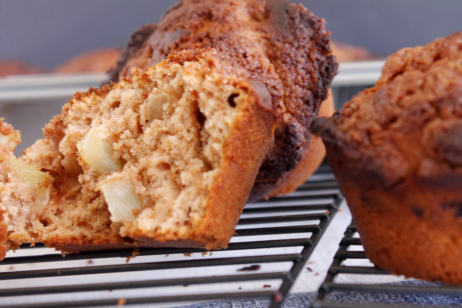 Receta Muffins de manzana y canela