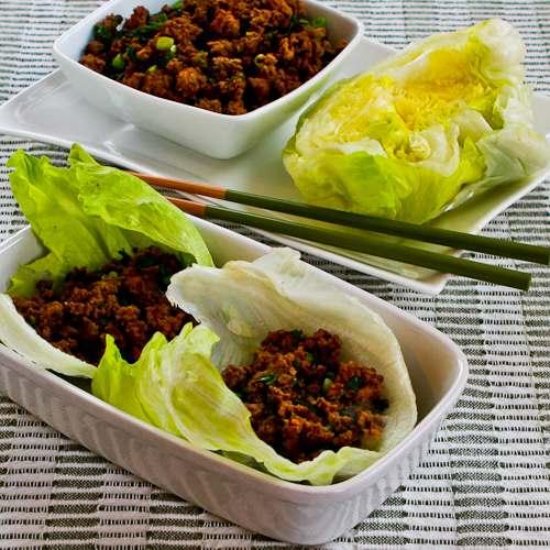 Quick Sriracha Beef Lettuce Wraps