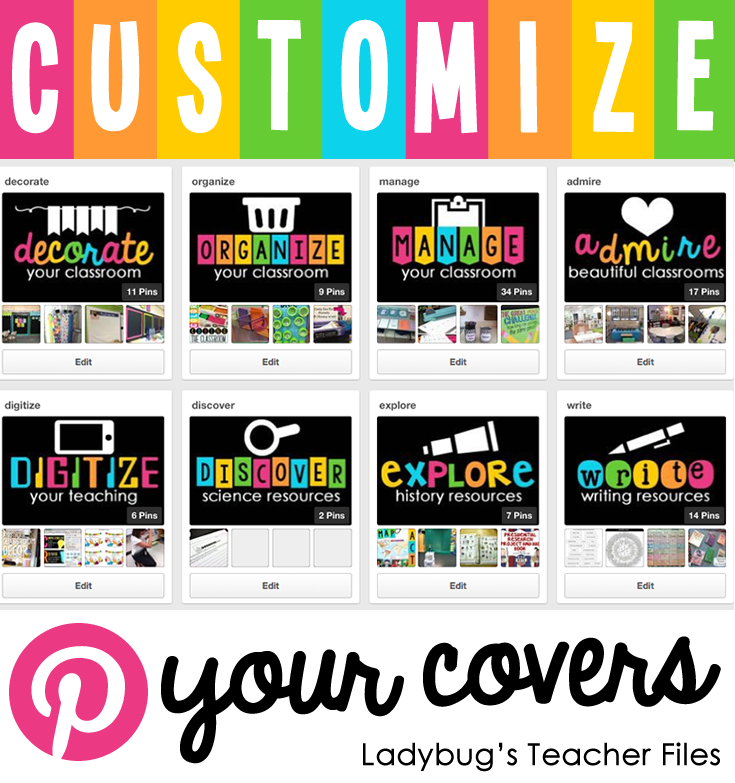 how to change pinterest board cover