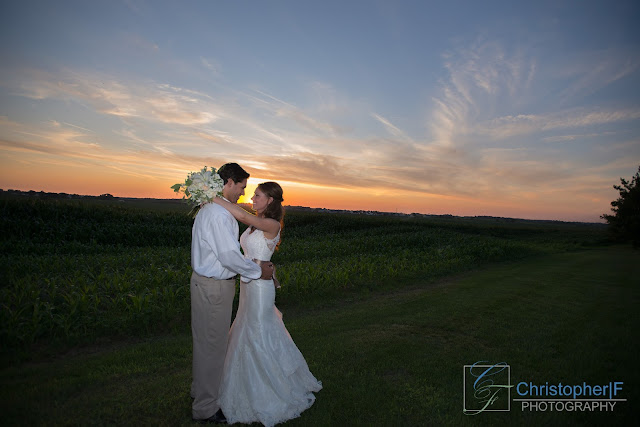 Emerson Creek Wedding Sunset Portrait