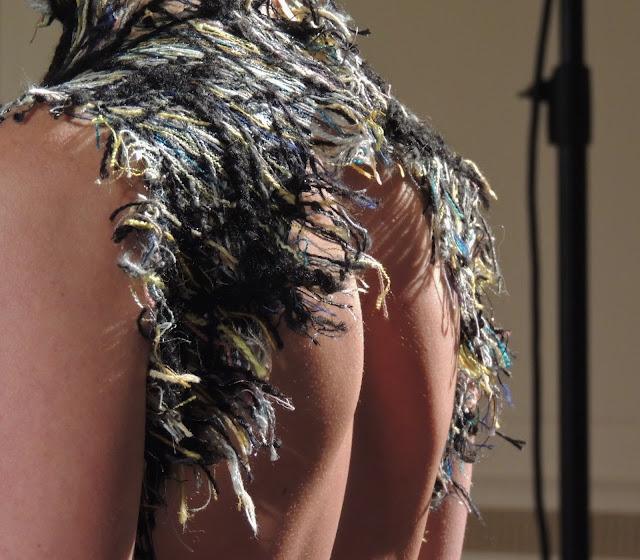 Close-up of eco-friendly weaving by Hellen Van Rees
