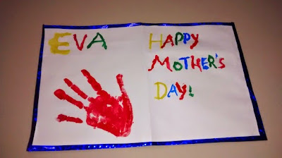 Handprint on Mother's Day card