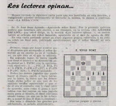 Revista Ajedrez Español nº 26, octubre 1957, pág. 441