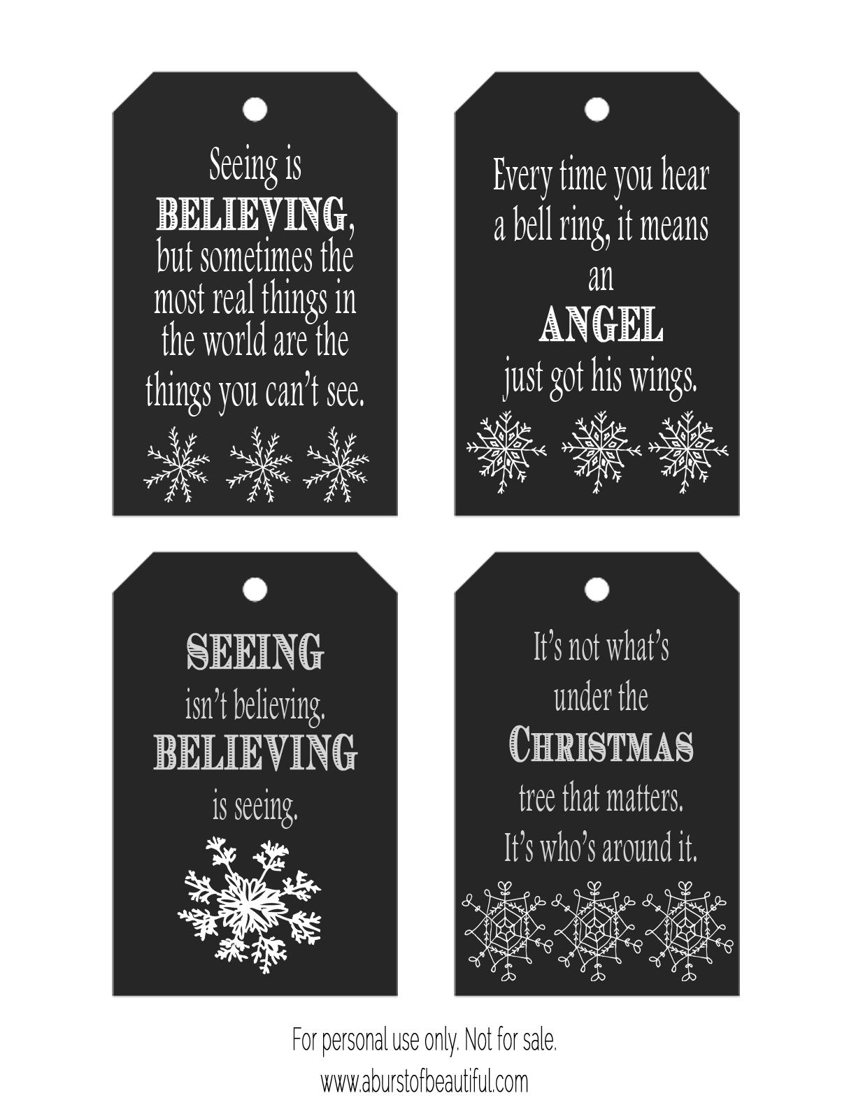 Free printable chalkboard christmas gift tags