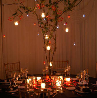 Fall Wedding Table Settings