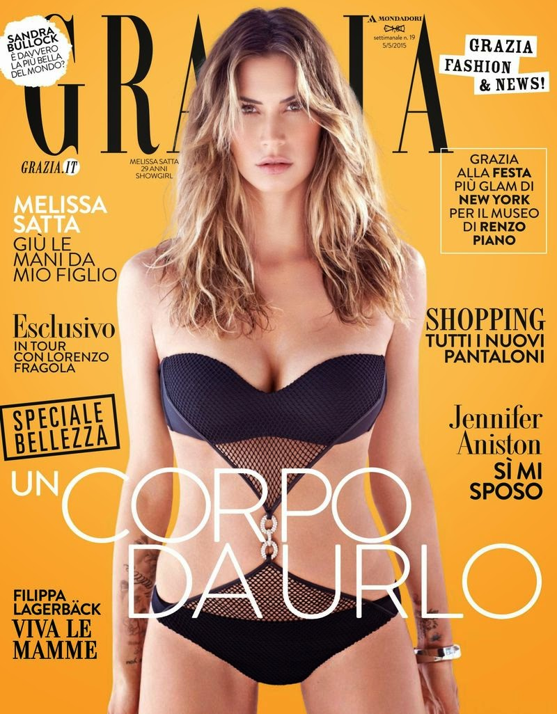 Model, Showgirl @ Melissa Satta - Grazia Italy, May 2015