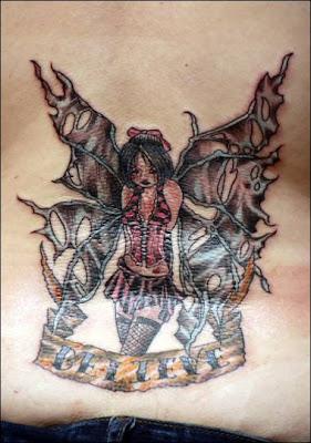 Tattoos of fairies on women