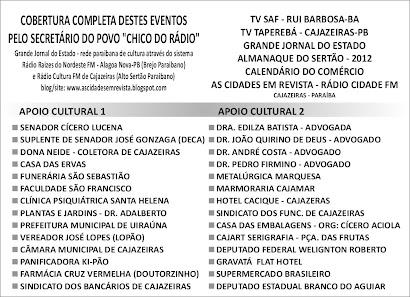 SEGUNDA  RELAÇÃO DE AMIGOS COLABORADORES DO NOSSO PROJETO