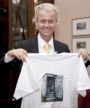 Geert Wilders with the T-shirt
