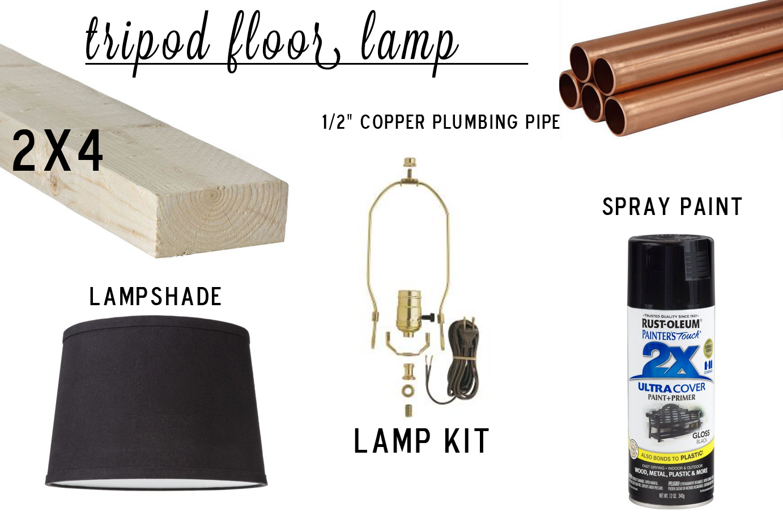 Knocktoberfest Tripod Floor Lamp Dorsey Designs