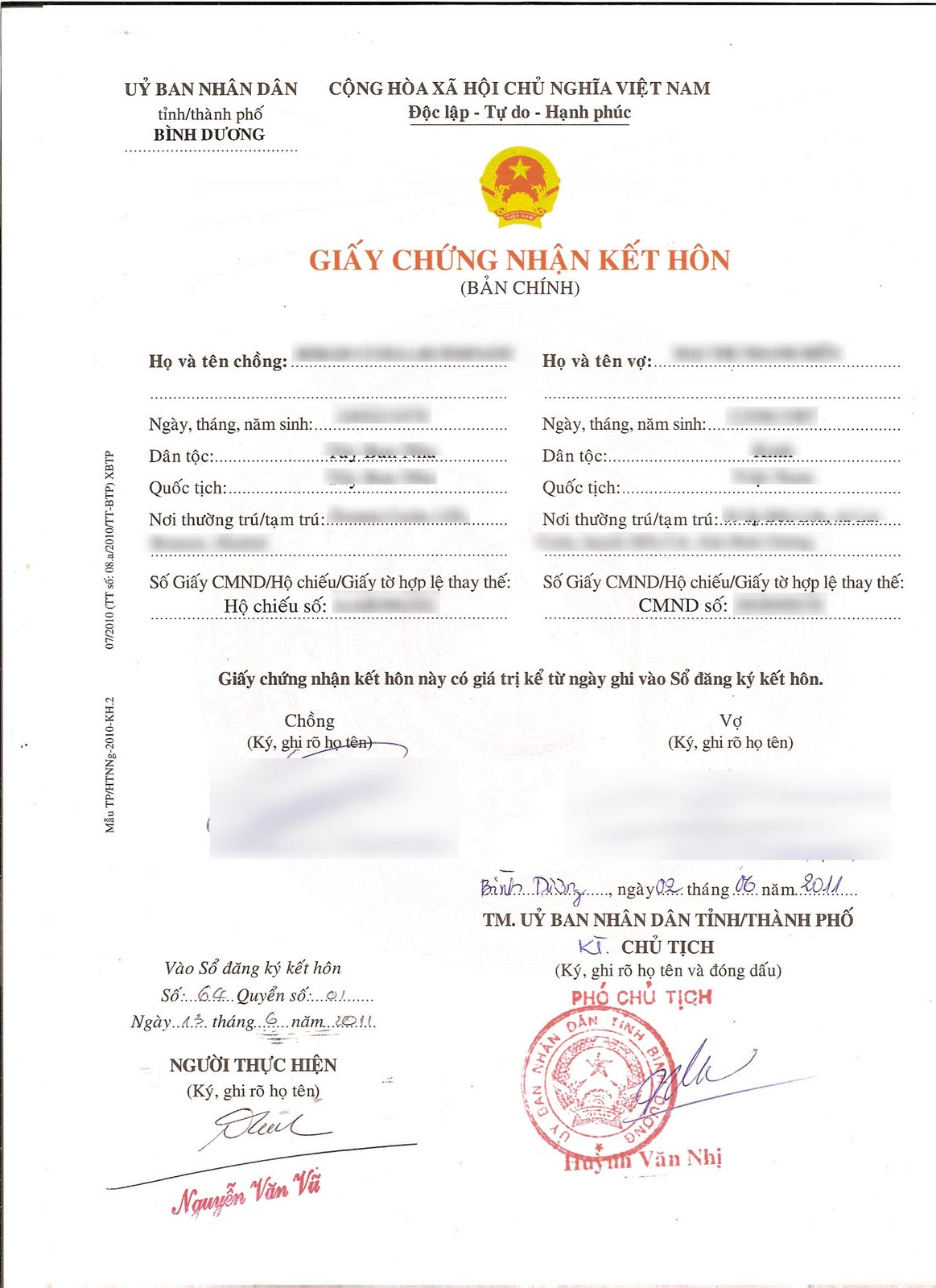 Marriage with a vietnamese vietnam vietnamese marriage certificate aiddatafo Choice Image
