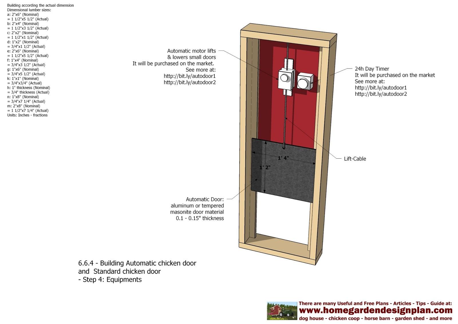 Home Garden Plans Automatic Chicken Coop Door Chicken