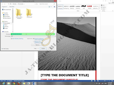 Creating PDF File Tutorial - Step 5