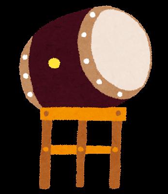 お祭りのイラスト「太鼓」