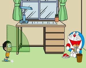 Game Nobita ném giấy vào sọt rác, game hoạt hình doremon hay tại GameVui.biz