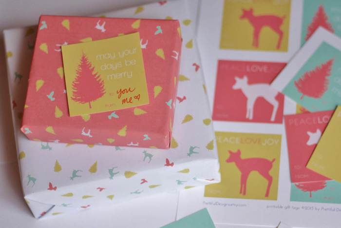 on the blog: doe, a deer... printable gift tags