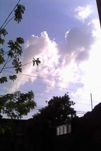 MOTHER MARY MIRACLE IN CLOUDS