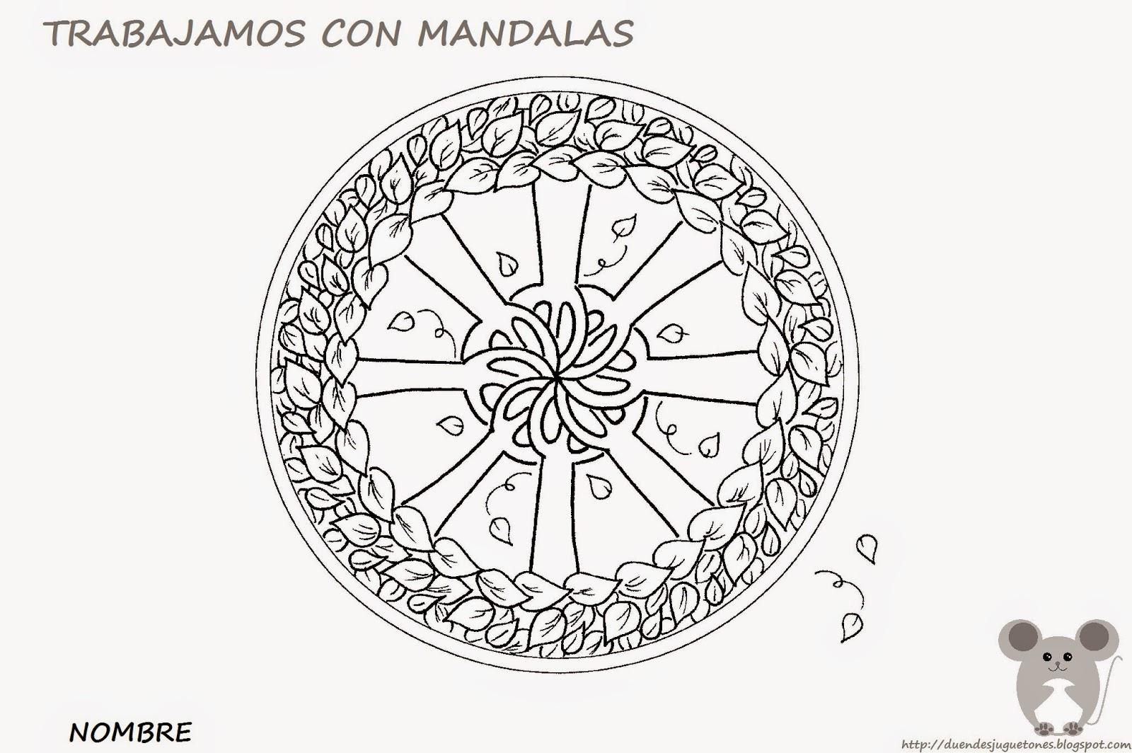 Contemporáneo Mandala De Otoño Para Colorear Colección de Imágenes ...