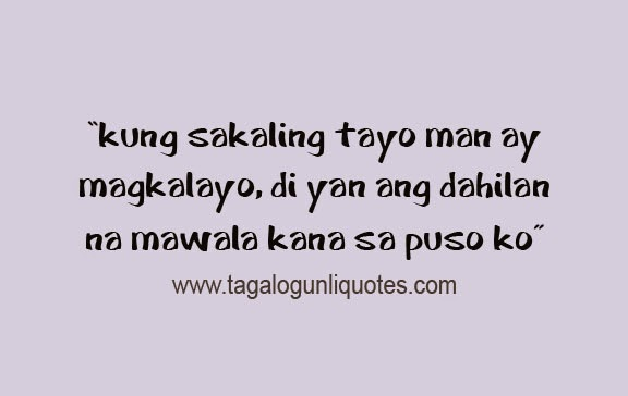 Inspiration Love Quotes Custom Inspirational Love Quotes Tagalog I Love You Quotes Tagalog