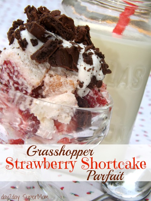 Grasshopper Strawberry Shortcake Parfait ~ Taco Tuesday